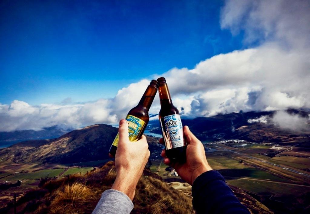 Zeos Gold Pilsner and Zeos Black Weiss beer - in New Zealand